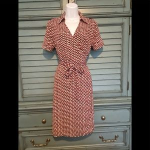 Classic short sleeve wrap dress by Ann Taylor Loft
